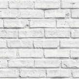 Arthouse White Brick Wallpaper