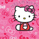 Walltastic Hello Kitty Mural Pink Wallpaper