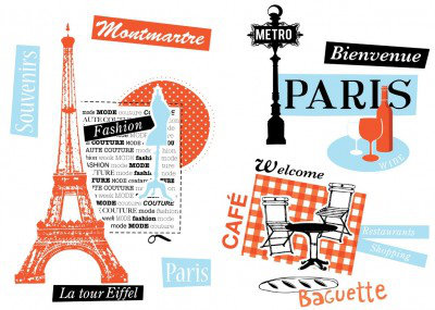 Image of Caselio Stickers French Touch, STH6171 41 63
