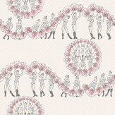 Albany Chorus Line Pink / Grey Wallpaper
