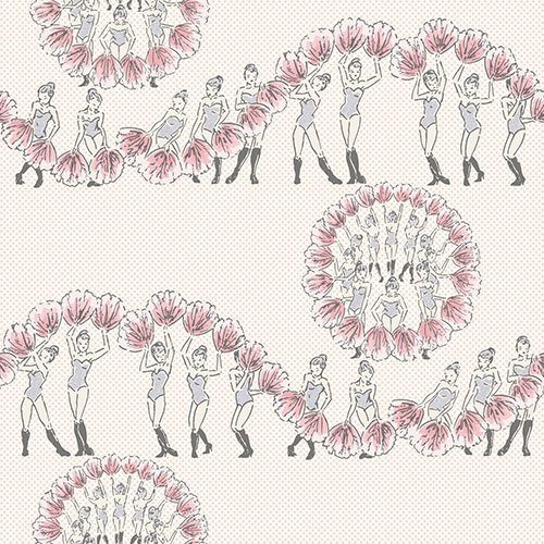 Albany Chorus Line Pink / Grey Wallpaper - Product code: 264516