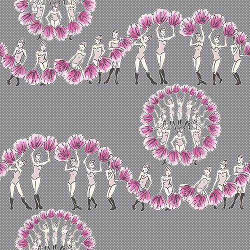 Albany Chorus Line Metallic Grey / Pink Wallpaper - Product code: 264530