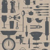 Graduate Collection Airfix Kitchen Taupe Wallpaper