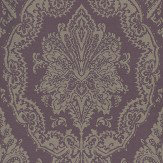 Eijffinger Charm Taupe / Deep Purple Wallpaper - Product code: 331202
