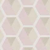 Eijffinger Charm Hexagon Grey / Pale Brown / Soft Pink Wallpaper