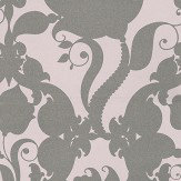 Eijffinger Charm Metallic Silver / Pale Pink Wallpaper - Product code: 331240