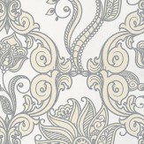 Eijffinger Charm Silver / Cream / White Wallpaper - Product code: 331242