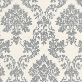 Eijffinger Charm Metallic Silver / Off White Wallpaper