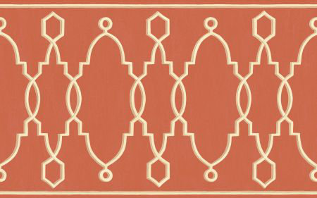 Cole & Son Parterre Border Red - Product code: 99/3018