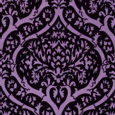 Albany Palladium Flock Purple Wallpaper - Product code: M0829