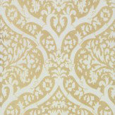 Albany Palladium Flock Beige / Cream Wallpaper