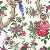Cole & Son Fontainebleau Fuchsia Pink & Emerald Green Wallpaper - Product code: 99/12050