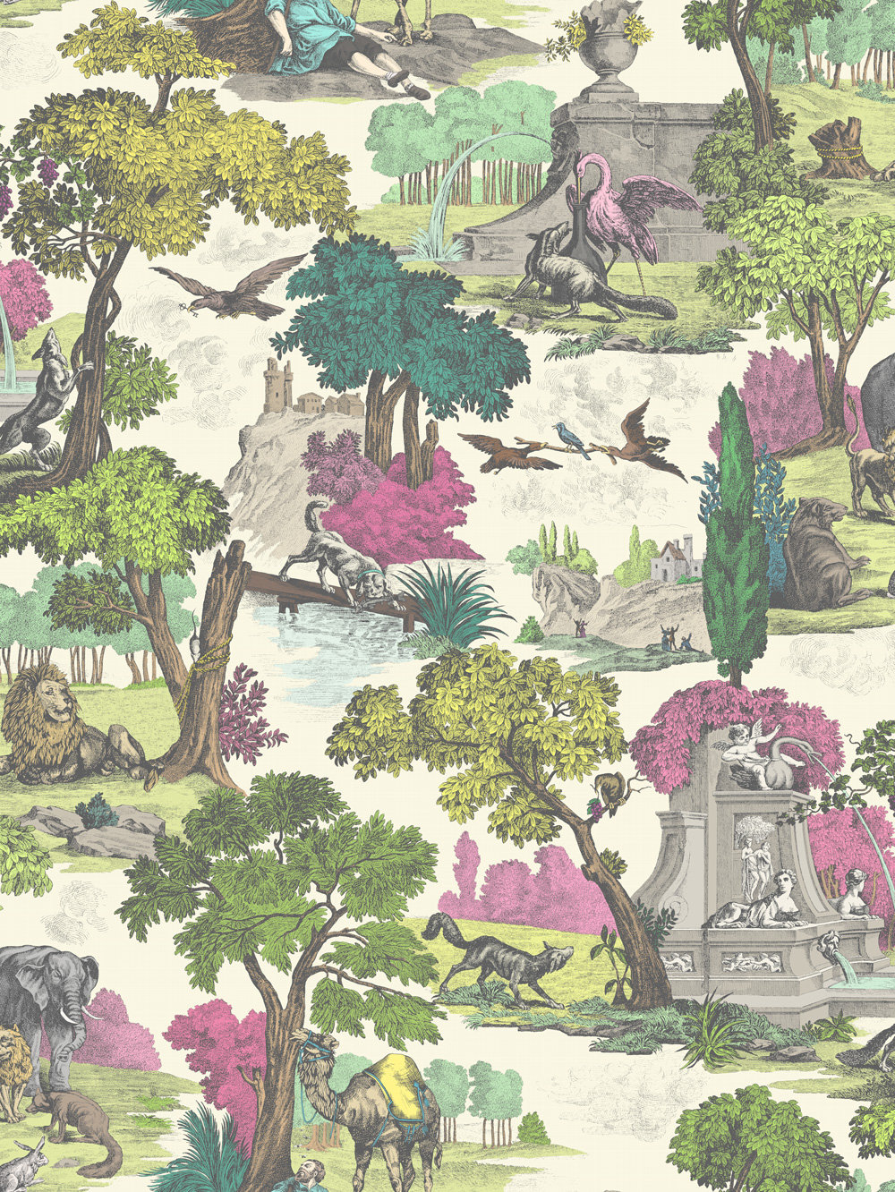 Versailles Grand Wallpaper - Multi - by Cole & Son