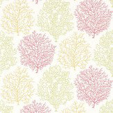 Sanderson Coral Reef Red / Green / Yellow Wallpaper