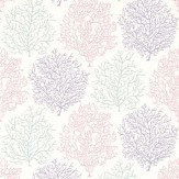 Sanderson Coral Reef Pink / Purple / Grey Wallpaper