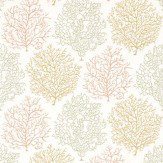 Sanderson Coral Reef Green / Orange / Yellow Wallpaper - Product code: 213393