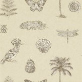 Sanderson Cocos Cream / Sepia Wallpaper