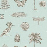 Sanderson Cocos Pale Blue Wallpaper - Product code: 213383