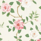 Sanderson Christabel Pink / Green Wallpaper