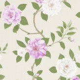 Sanderson Christabel Purple / Green / Beige Wallpaper