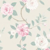 Sanderson Christabel Pink / Blue Wallpaper