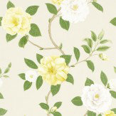 Sanderson Christabel Yellow / Green Wallpaper