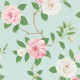Sanderson Christabel Pink / Green / Blue Wallpaper