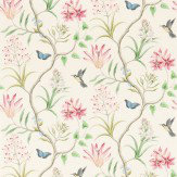 Sanderson Clementine Blue / Green / Pink Wallpaper