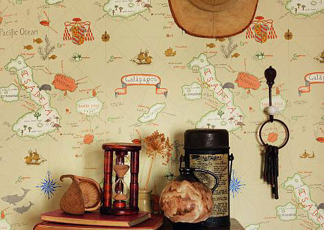 Sanderson Galapagos Beige / Multi Wallpaper - Product code: 213362