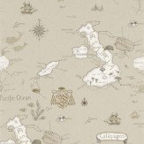 Sanderson Galapagos Brown Wallpaper