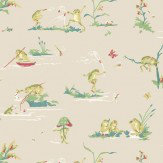 Thibaut Resort Frogs Taupe / Multi Wallpaper