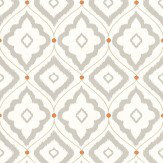 Thibaut Bungalow Grey / Orange Wallpaper - Product code: T16055