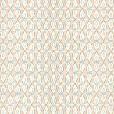 Thibaut Bribie White / Blue / Orange / Taupe Wallpaper