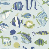 Thibaut Cozumel Blue Wallpaper