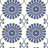 Thibaut Sun Garden Navy Wallpaper