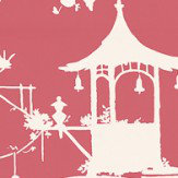 Thibaut South Sea Pink Wallpaper