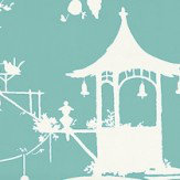 Thibaut South Sea Teal Wallpaper