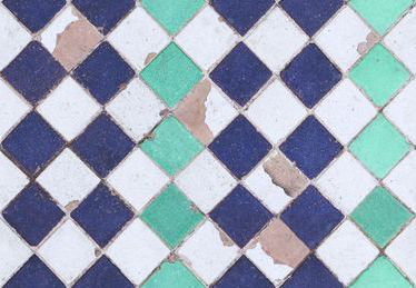 Coordonne Turquoise Chess Turquoise / Mauve / White Wallpaper main image
