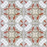 Coordonne Art Deco Terracotta / Grey / White Wallpaper