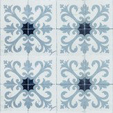 Coordonne Damascus Grey / Blue Wallpaper