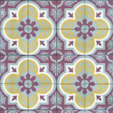 Coordonne Mandala Soft Yellow / Terracotta / Grey Wallpaper
