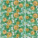 Coordonne Daisy Teal / Turquoise / Yellow Wallpaper - Product code: 3000022