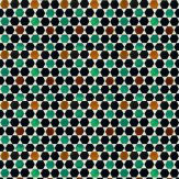 Coordonne Flamenco Brown / Teal / Yellow Wallpaper