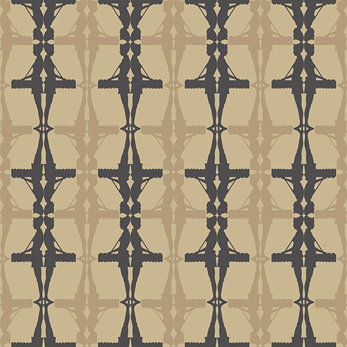 Albany Interval Gold / Black Wallpaper - Product code: 264240