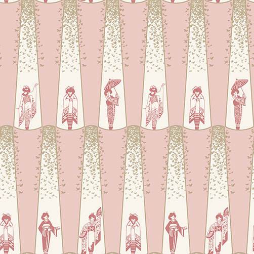 Albany Madame Butterfly Pink / Off White Wallpaper - Product code: 264615
