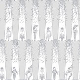 Albany Madame Butterfly Grey / Off White Wallpaper