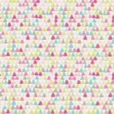 Harlequin Lulu Lemongrass / Pink Wallpaper