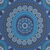 Harlequin Boheme Indigo Wallpaper