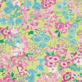 Harlequin Florica Blue / Yellow / Pink Wallpaper