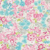 Harlequin Florica White / Blue / Pink Wallpaper - Product code: 110661